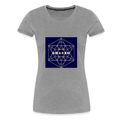 Awaken - Sacred Geometry - Women's Premium T-Shirt