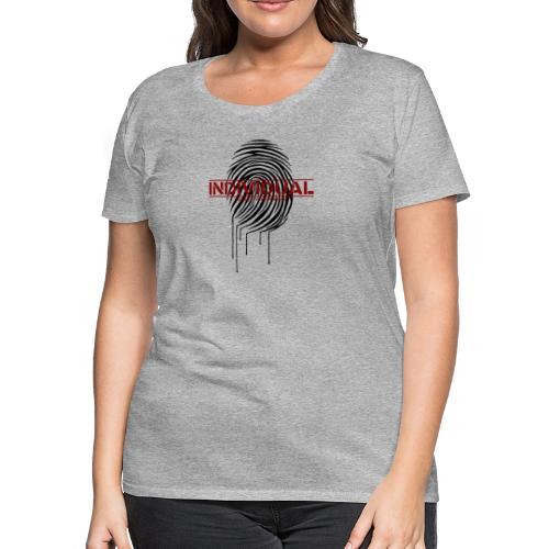 Zebra Fingerprint black - Women's Premium T-Shirt