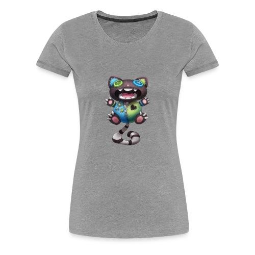 Clover Cats - Grey toy cat - Women's Premium T-Shirt