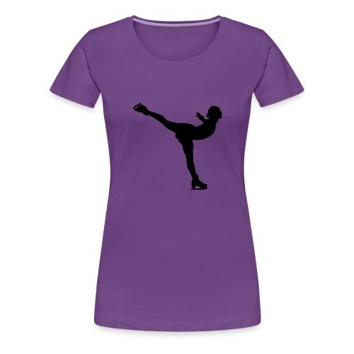 Ice Skating Woman Silhouette - Women's Premium T-Shirt