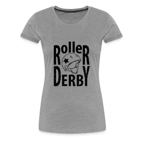 Roller derby helmet typography - Women's Premium T-Shirt