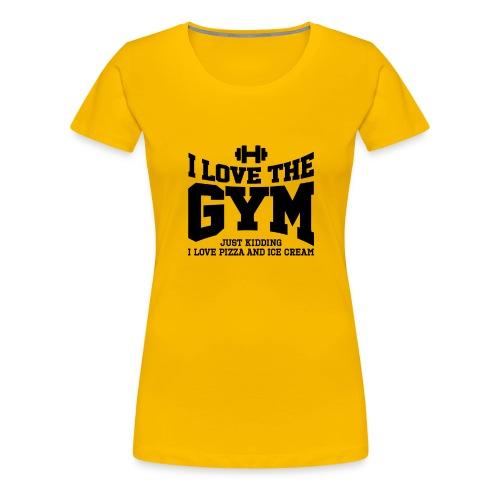 I love the gym - Women's Premium T-Shirt