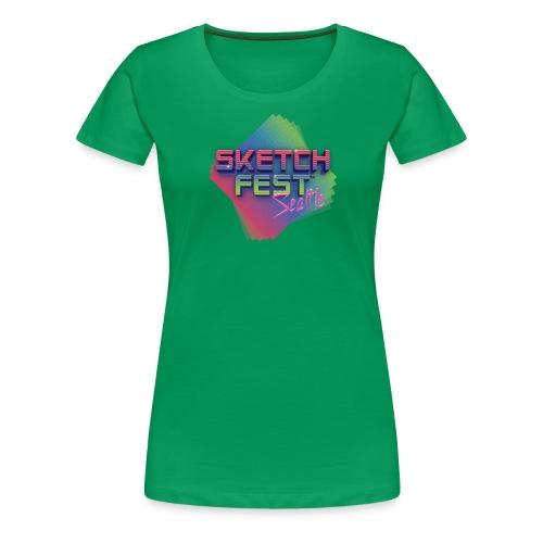 SketchFest2016 Tshirt 2500x2500 png - Women's Premium T-Shirt