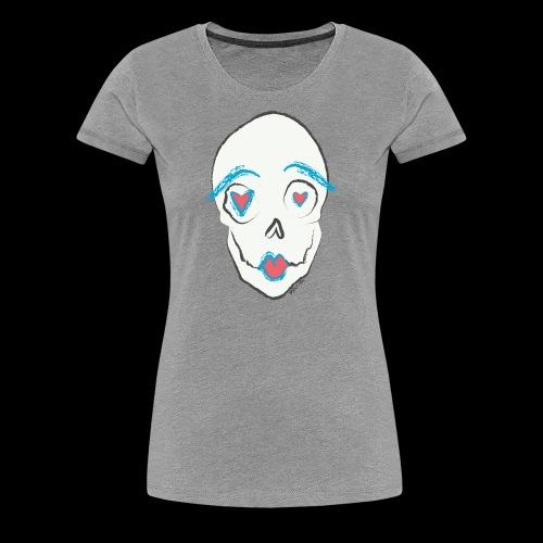Kissing skull - Women's Premium T-Shirt