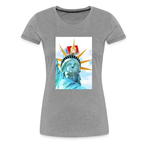 Lady Liberty Spikes Hillary - Women's Premium T-Shirt