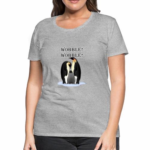 Wobbley Penguin - Women's Premium T-Shirt