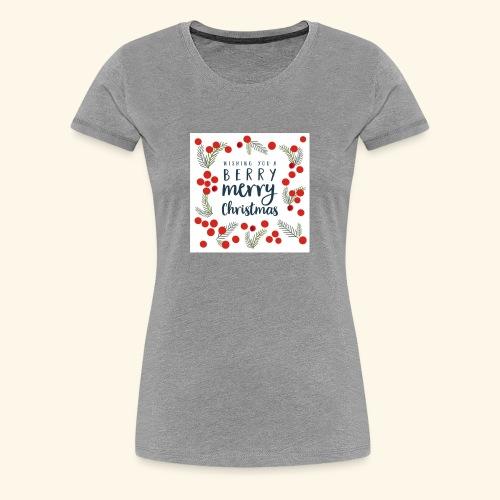 Berry Christmas - Women's Premium T-Shirt