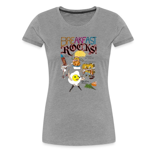Breakfast Rocks! - Women's Premium T-Shirt