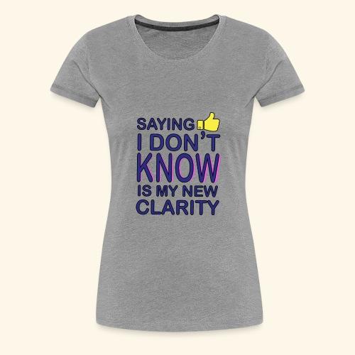 new clarity - Women's Premium T-Shirt