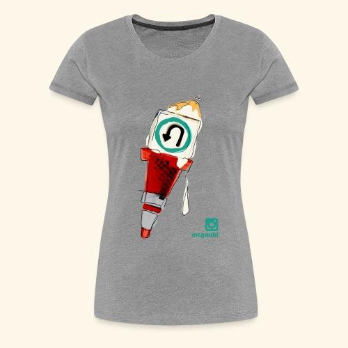gelato under construction - Women's Premium T-Shirt