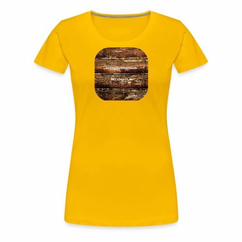 "InovativObsesion ""LOGGED IN"" apparel - Women's Premium T-Shirt"