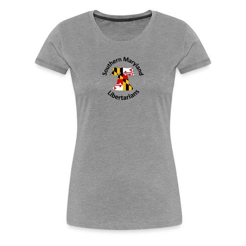 SOMD Libertarians Logo Outlined Bell No Shadow T - Women's Premium T-Shirt