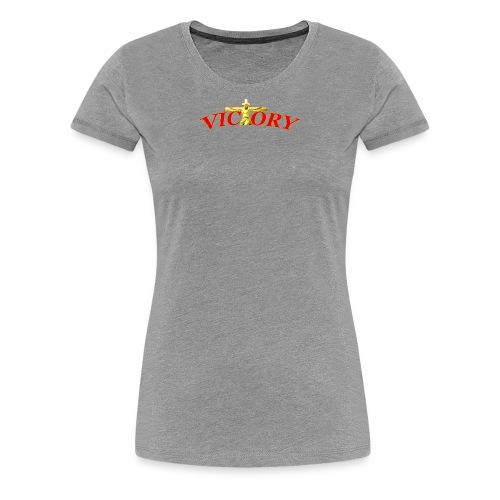 Victory In Jesus Christ - Women's Premium T-Shirt