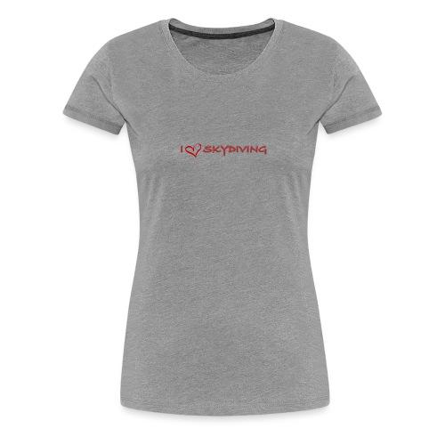 I love skydiving T-shirt/BookSkydive - Women's Premium T-Shirt