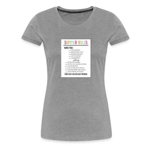 summer rules - Women's Premium T-Shirt