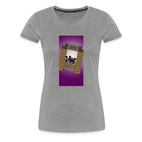 iphone5raccoon1 - Women's Premium T-Shirt