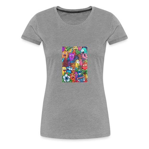 doodle art vexx - Women's Premium T-Shirt