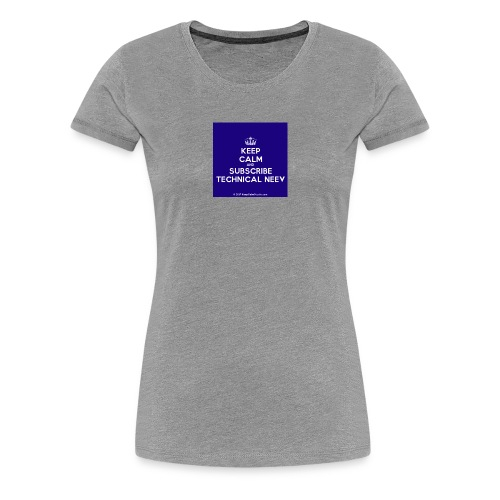 KeepCalm blue and white edition - Women's Premium T-Shirt