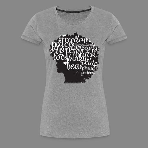 Afro Text II - Women's Premium T-Shirt