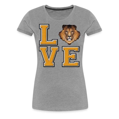 Lion Love Gold Box - Women's Premium T-Shirt