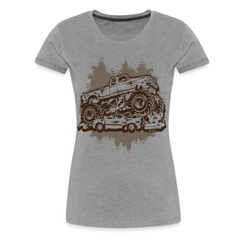 Monster Truck Grungy - Women's Premium T-Shirt