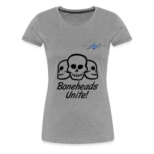 Boneheads Unite Black 800ppi png - Women's Premium T-Shirt