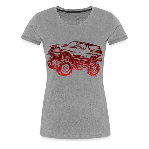 Mega Mud Ford Bronco Red - Women's Premium T-Shirt