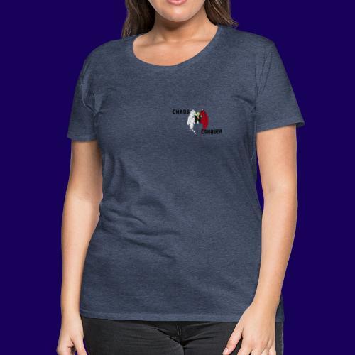 ChaosNConquer Design Logo with Steampunk Girl - Women's Premium T-Shirt