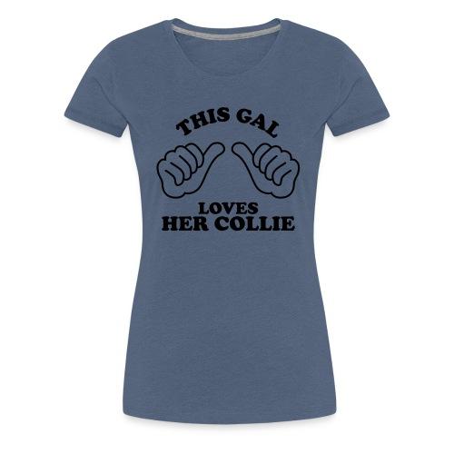 Two Thumbs Gal Collie - Women's Premium T-Shirt