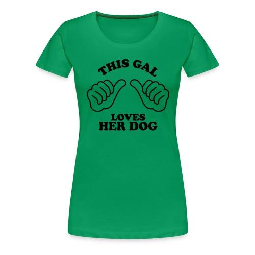 Two Thumbs Gal Dog - Women's Premium T-Shirt