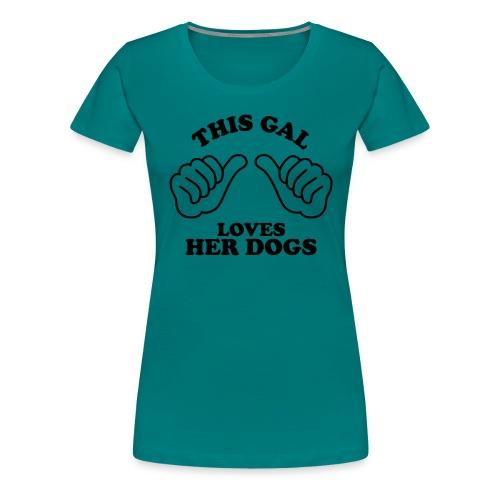 Two Thumbs Gal Dogs - Women's Premium T-Shirt