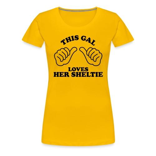 Two Thumbs Gal Sheltie - Women's Premium T-Shirt