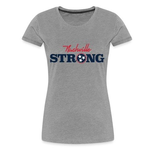 Nashville Strong Tornado Relief Effort - Women's Premium T-Shirt