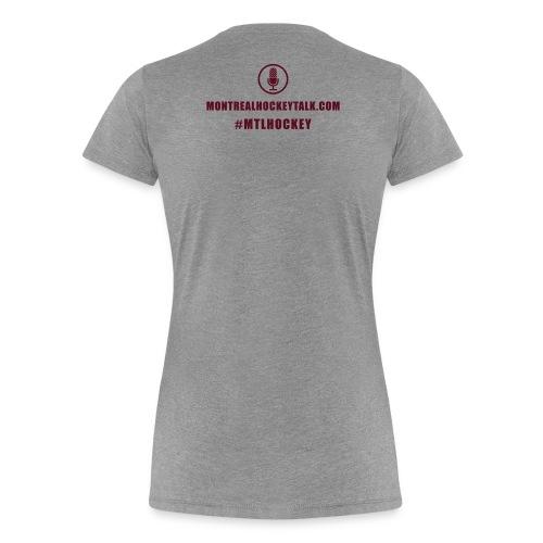 MTL Hockey Back White - Women's Premium T-Shirt