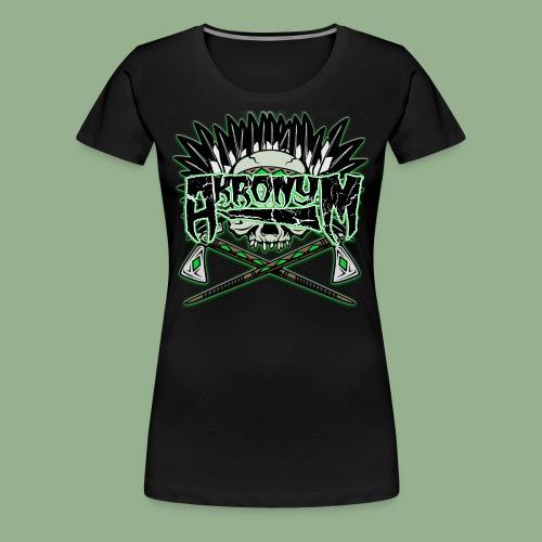 Akronym Skull and Logo - Women's Premium T-Shirt