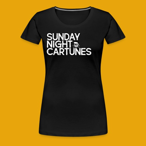 Sunday Night Cartunes Skull - Women's Premium T-Shirt