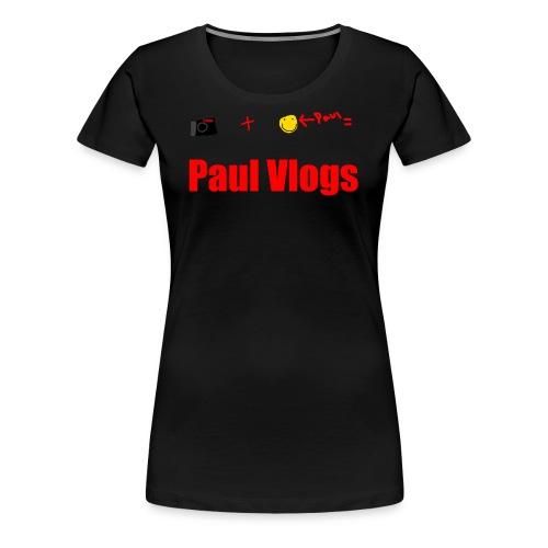 Camera + Paul = Paul Vlogs - Women's Premium T-Shirt