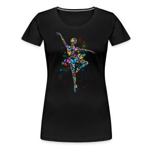 Ballerina - Butterfly - Ballet - Women's Premium T-Shirt