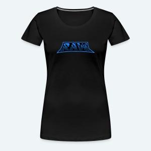 raw blue - Women's Premium T-Shirt