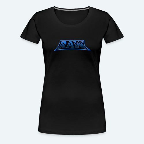 raw blue - Women's Premium T-Shirt