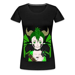 Anarchy punk demon by summer richey - Women's Premium T-Shirt