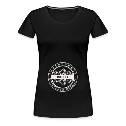 ISO Co. White Classic Emblem - Women's Premium T-Shirt