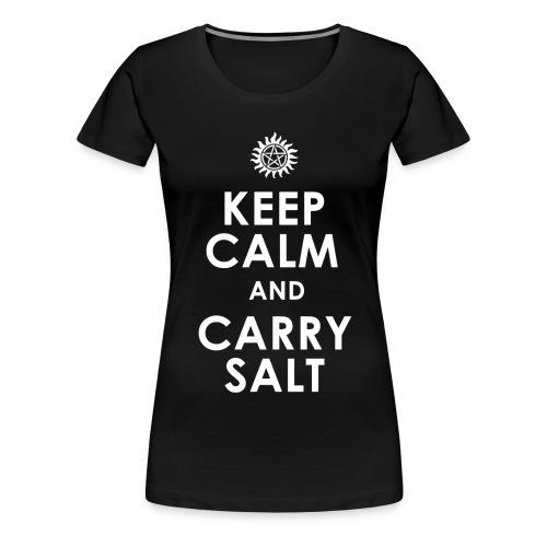 keep calm and carry Salt - Women's Premium T-Shirt