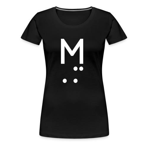 M LOGO WHITE - Women's Premium T-Shirt
