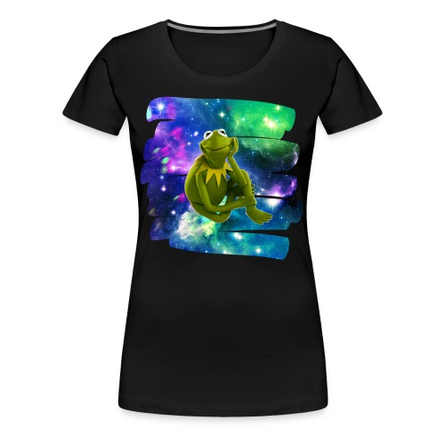 Kermit the frog in the never ending void. - Women's Premium T-Shirt