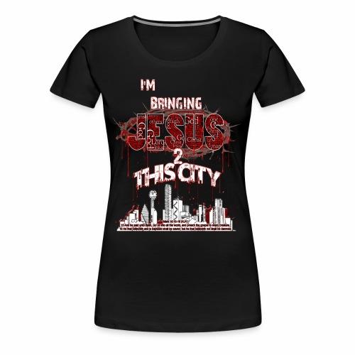 JESUS2thacity Black - Women's Premium T-Shirt