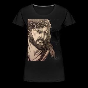 jesus with crown of thorns - Women's Premium T-Shirt
