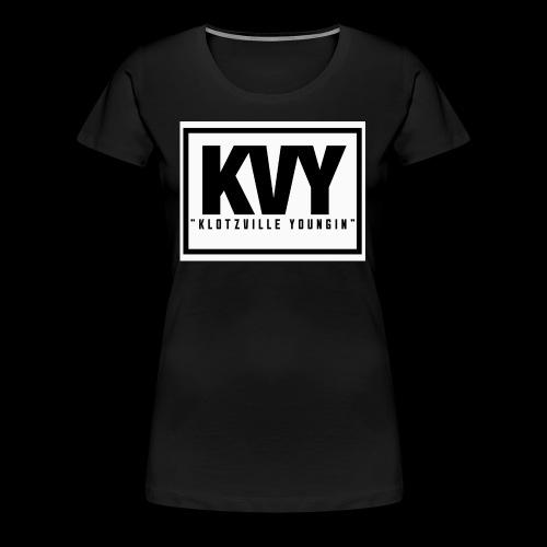 Klotzville Youngin Box Logo - Women's Premium T-Shirt