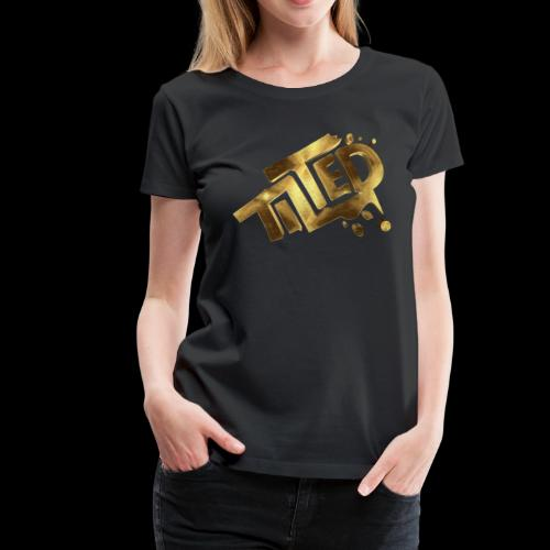 Tilted Gamer Gold - Women's Premium T-Shirt