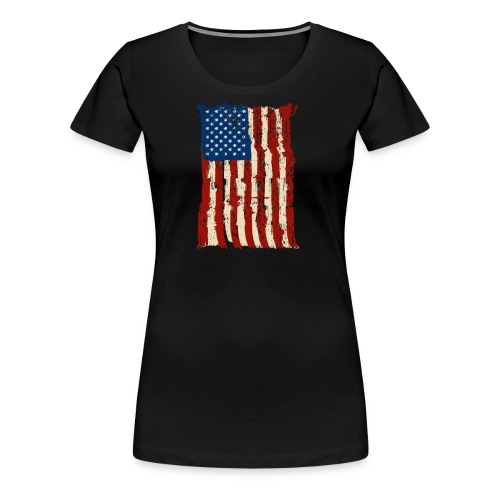 4th of July Independence Celebration American Flag - Women's Premium T-Shirt